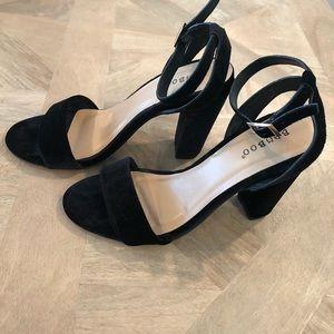 Black velvet BAMBOO heels